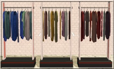 Test Kits Sims HM Fashion Les Nouveaux Objets Du Kit Les - Portants vêtements